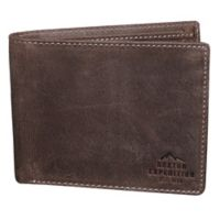 Buxton® Expedition RFID Slimfold Passport Wallet in Walnut