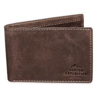 Buxton® Expedition RFID Front Pocket Slimfold Passport Wallet in Walnut