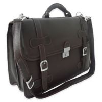 Piel Leather® Classic XXL Flap-Over Portfolio in Chocolate