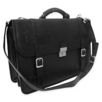 Piel Leather® Classic XXL Flap-Over Portfolio in Black