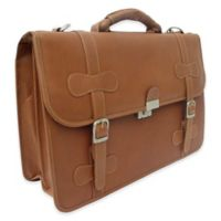 Piel Leather® Classic XXL Flap-Over Portfolio in Saddle
