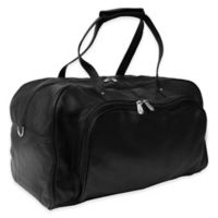 Piel Leather® Classic Deluxe 17-Inch Carry-on Duffel in Black