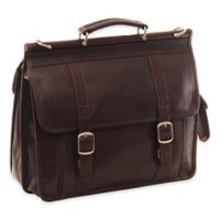 Piel® Leather Classic European Briefcase in Chocolate