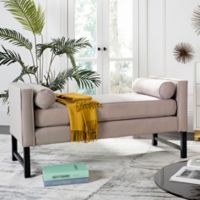 Safavieh Couture Anton Settee in Taupe