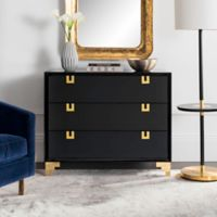 Safavieh Couture Odalis Lacquer Chest of Drawers in Black