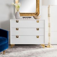 Safavieh Couture Odalis Lacquer Chest of Drawers in White