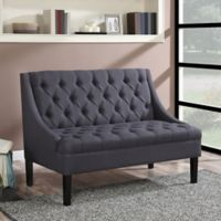 Pulaski Scoop Arm Settee in Black