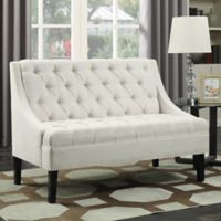 Pulaski Scoop Arm Settee in White