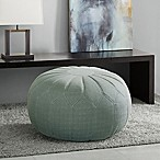 Madison Park Kelsey Round Ottoman in Seafoam
