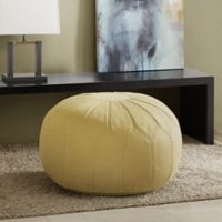 Madison Park Kelsey Round Ottoman in Green