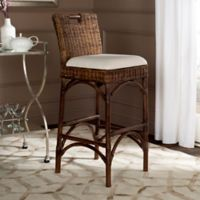 Safavieh Fremont Woven Bar Stool in Brown