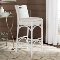 Safavieh Fremont Woven Bar Stool in White