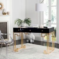 Safavieh Couture Valeria Lacquer Writing Desk in Black