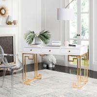 Safavieh Couture Valeria Lacquer Writing Desk in White