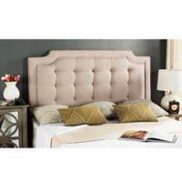Safavieh Sapphire Tufted Velvet Upholstered Queen Headboard in Taupe