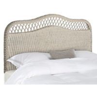 Safavieh Sephina Antique Rattan Full Headboard in Antique Grey
