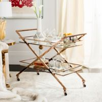 Safavieh Marcelo Metal Bar Cart in Chocolate