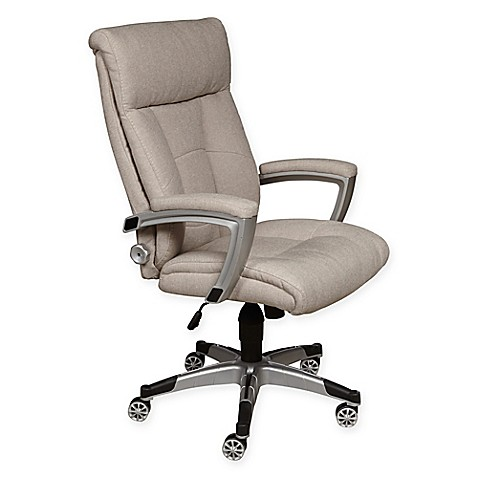 Ski Sealy Posturepedic Cool Foam Office Chair In Sandstone