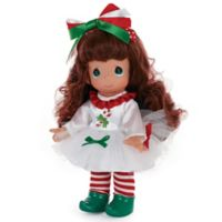 Precious Moments® Candy Cane Dreams Doll with Brunette Hair