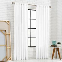 KAS Room 63-Inch Bespoke Rod Pocket Back-Tab Panel in White