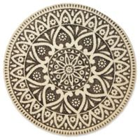 Atrium Round Placemat in Charcoal