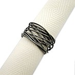 Twisted Wire Napkin Ring in Gun Metal
