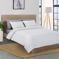 Lacoste Chevron Reversible Twin Coverlet in White