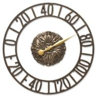 Whitehall Products Cambridge Floating Ring Outdoor Wall Thermometer in French Bronze