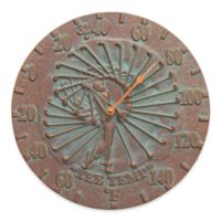 Whitehall Products Golfer Indoor/Outdoor Wall Thermometer in Copper Verdigris