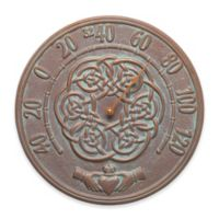 Whitehall Products Irish Blessings Indoor/Outdoor Wall Thermometer in Copper Verdigris