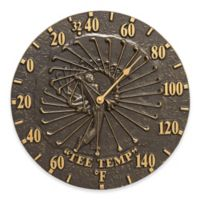 Whitehall Products Golfer Indoor/Outdoor Wall Thermometer in French Bronze
