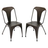 LumiSource Austin Dining Chairs in Espresso (Set of 2)