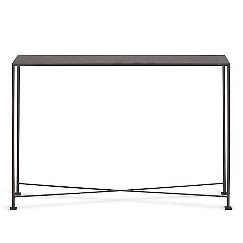 Diversey 48 inch metal console table bed bath beyond for 48 inch sofa table