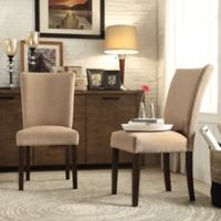Verona Home Tosca Linen Dining Side Chair in Tan (Set of 2)