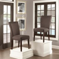 Verona Home Tosca Linen Dining Side Chair in Dark Grey (Set of 2)