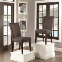 Verona Home Tosca Linen Dining Side Chair in Dark Grey (Set of 2)