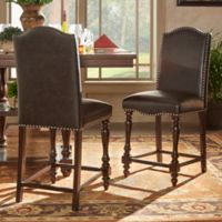 iNSPIRE Q® Ashford Counter Chairs in Brown (Set of 2)