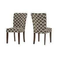 Verona Home Tosca Printed Dining Side Chair in Midnight (Set of 2)