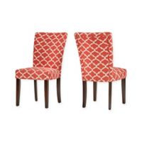 Verona Home Tosca Printed Dining Side Chair in Red (Set of 2)