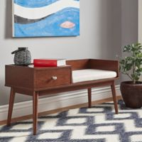 Verona Home Starling Mid-Century Telephone Bench in Espresso