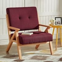 Verona Home Siva Mid-Century Accent Chair in Merlot