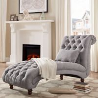 iNSPIRE Q® Nottingham Grand Chaise Lounge in Grey
