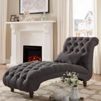 iNSPIRE Q® Nottingham Grand Chaise Lounge in Dark Grey