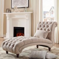 iNSPIRE Q® Nottingham Grand Chaise Lounge in Beige
