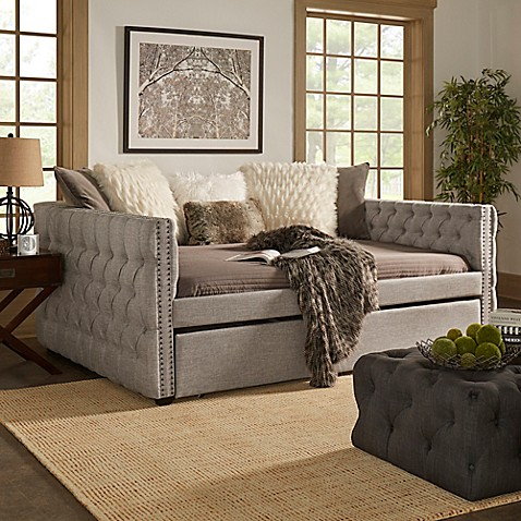 small bedroom with daybed verona home cambria daybed with trundle bed bath amp beyond 17222