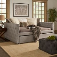 Verona Home Cambria Queen Daybed with Trundle in Dark Grey