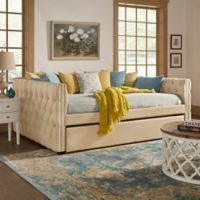 Verona Home Cambria Queen Daybed with Trundle in Beige