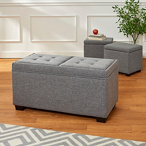 3 Piece Bench Set In Grey Bed Bath Amp Beyond