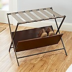Harper Luggage Rack with Shoe Storage in Gunmetal