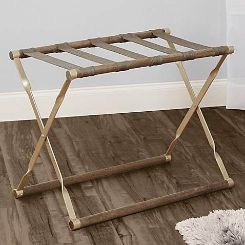 Luggage Rack In Gold Bed Bath Amp Beyond